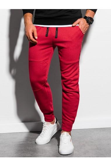 Pantaloni de trening barbati - P919 - rosu