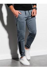 Pantaloni de trening barbati - P920 - gri-inchis