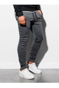 Pantaloni de trening barbati - P867-gri-inchis