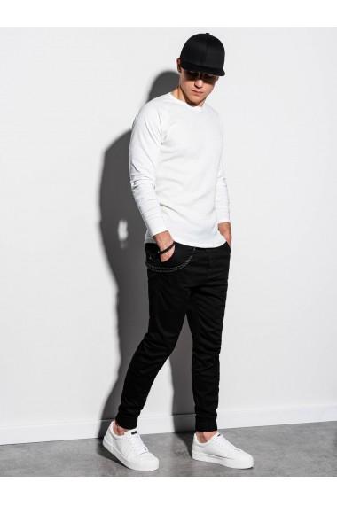 Bluza slim fit barbati L119 - alb