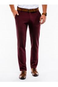 Pantaloni premium casual barbati - P832-bordo