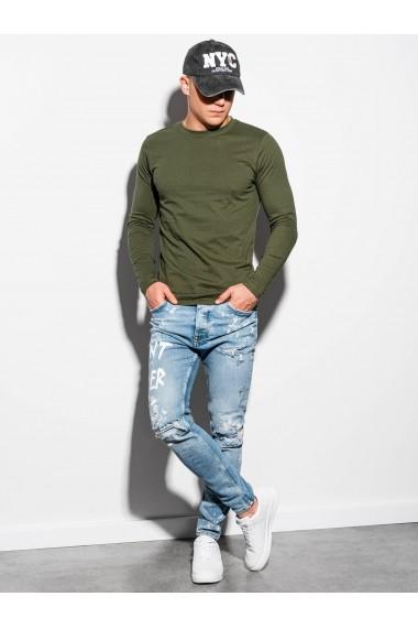 Bluza barbati simpla bumbac L118-khaki