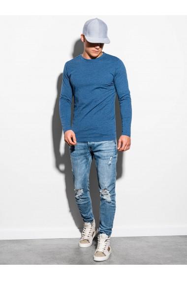 Bluza barbati simpla bumbac L118-albastru