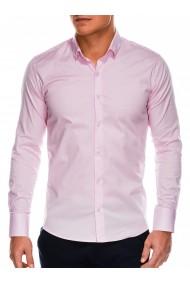 Camasa slim fit barbati K504 - roz