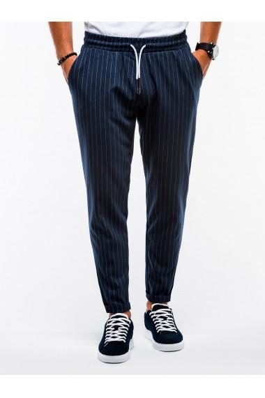 Pantaloni premium barbati - P852-bleumarin