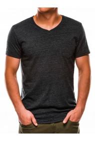 Tricou barbati S1045 - gri-inchis