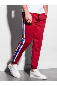 Pantaloni premium barbati P854 - rosu