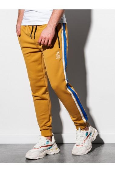Pantaloni premium barbati P854 - mustar