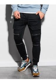 Pantaloni de trening barbati P901 - negru