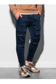 Pantaloni de trening barbati P901 - bleumarin