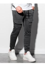 Pantaloni de trening barbati P901 - gri-inchis