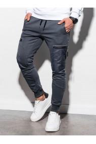 Pantaloni de trening barbati - P917 - gri-inchis