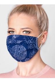 Masca protectie din bumbac de inalta calitate A298 - bleumarin