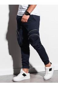 Pantaloni joggers barbati P996 - bleumarin