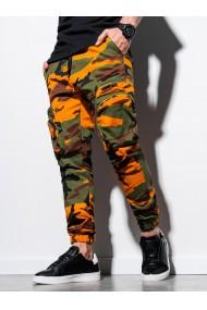 Pantaloni joggers barbati P996 - camuflaj-verde