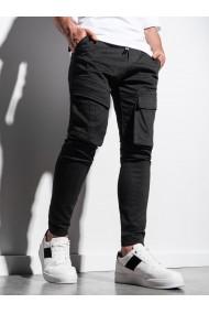 Pantaloni joggers barbati P999 - negru