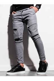 Pantaloni joggers barbati P999 - gri