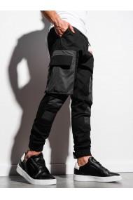 Pantaloni joggers barbati P998 - negru