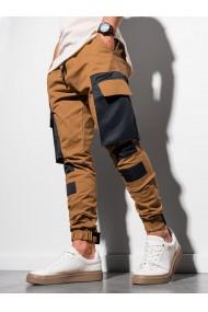 Pantaloni joggers barbati P998 - camel