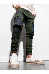 Pantaloni joggers barbati P998 - verde