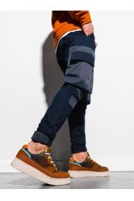 Pantaloni joggers barbati P998 - bleumarin
