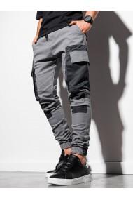 Pantaloni joggers barbati P998 - gri