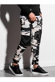 Pantaloni joggers barbati P998 - camuflaj-negru