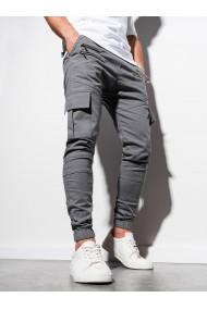 Pantaloni joggers barbati P1000 - gri