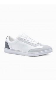 Pantofi sport casual barbati T373 - alb