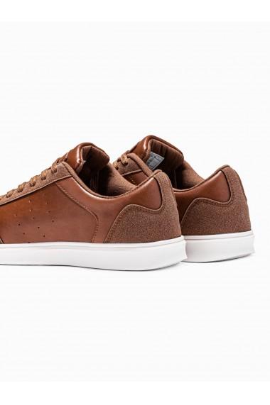 Pantofi sport casual barbati T373 - maro