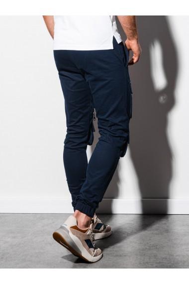 Pantaloni joggers barbati P995 - bleumarin