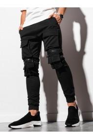 Pantaloni joggers barbati P995 - negru