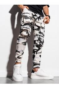 Pantaloni joggers barbati P995 - negru-alb