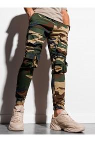 Pantaloni joggers barbati P995 - verde-maro