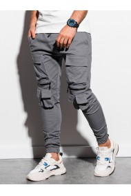 Pantaloni joggers barbati P995 - gri