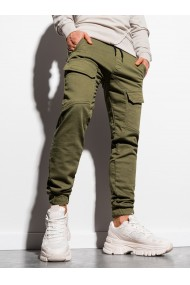 Pantaloni joggers barbati P925 - khaki
