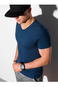 Tricou simplu barbati S1369 - bleumarin-inchis