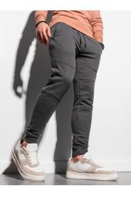 Pantaloni Level Up barbati P987 - gri-inchis