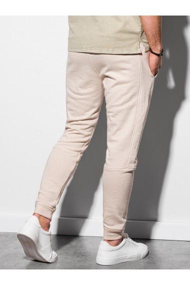 Pantaloni Level Up barbati P987 - alb