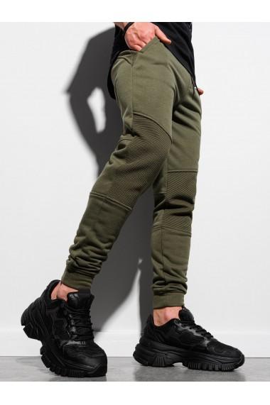 Pantaloni performance barbati P954 - masliniu