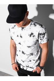 Tricou barbati S1373 - negru-alb