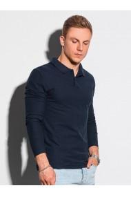 Bluza polo barbati L132 - bleumarin