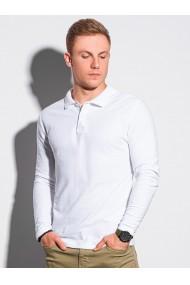 Bluza polo barbati L132 - alb