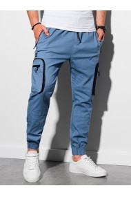 Pantaloni joggers barbati P960 - albastru