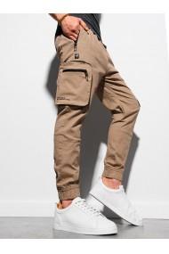 Pantaloni joggers barbati P960 - maro