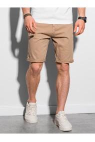 Pantaloni scurti casual barbati W303 - bej-inchis