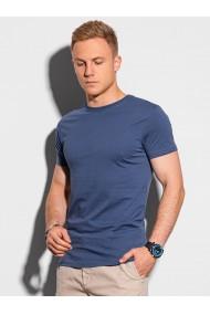 Tricou simplu barbati S1370 - albastru-inchis