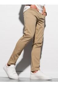 Pantaloni chinos barbati P990 - bej-inchis