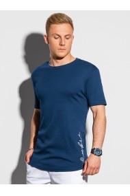 Tricou barbati S1387 - bleumarin