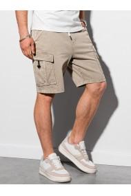 Pantaloni scurti barbati W292 - bej-deschis